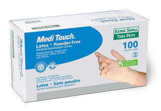 Medi Touch Latex Examination Gloves (Powder-Free)
