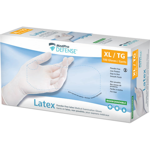 MedPro Defense Latex Examination Gloves (Powder Free)