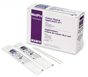 "AMG Medical Cotton Tipped Applicators (6"" Sterile) - 2 Per Pouch - Avida Healthwear Inc."