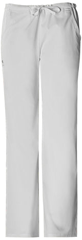 White - Cherokee Luxe Low Rise Drawstring Pant