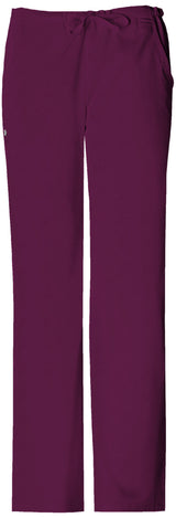 Wine - Cherokee Luxe Low Rise Drawstring Pant
