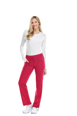 Red - Cherokee Infinity Low Rise Drawstring Pant