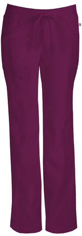 Wine - Cherokee Infinity Low Rise Drawstring Pant