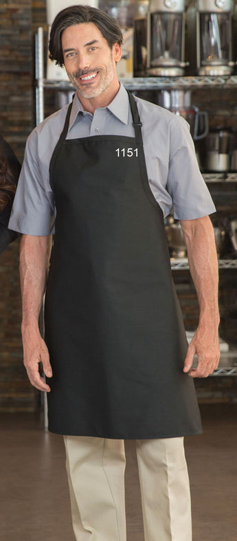 Black - Designer Bib Apron - No Pockets