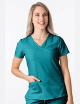 New Teal - Green Town 4Flex Y-Neck Top