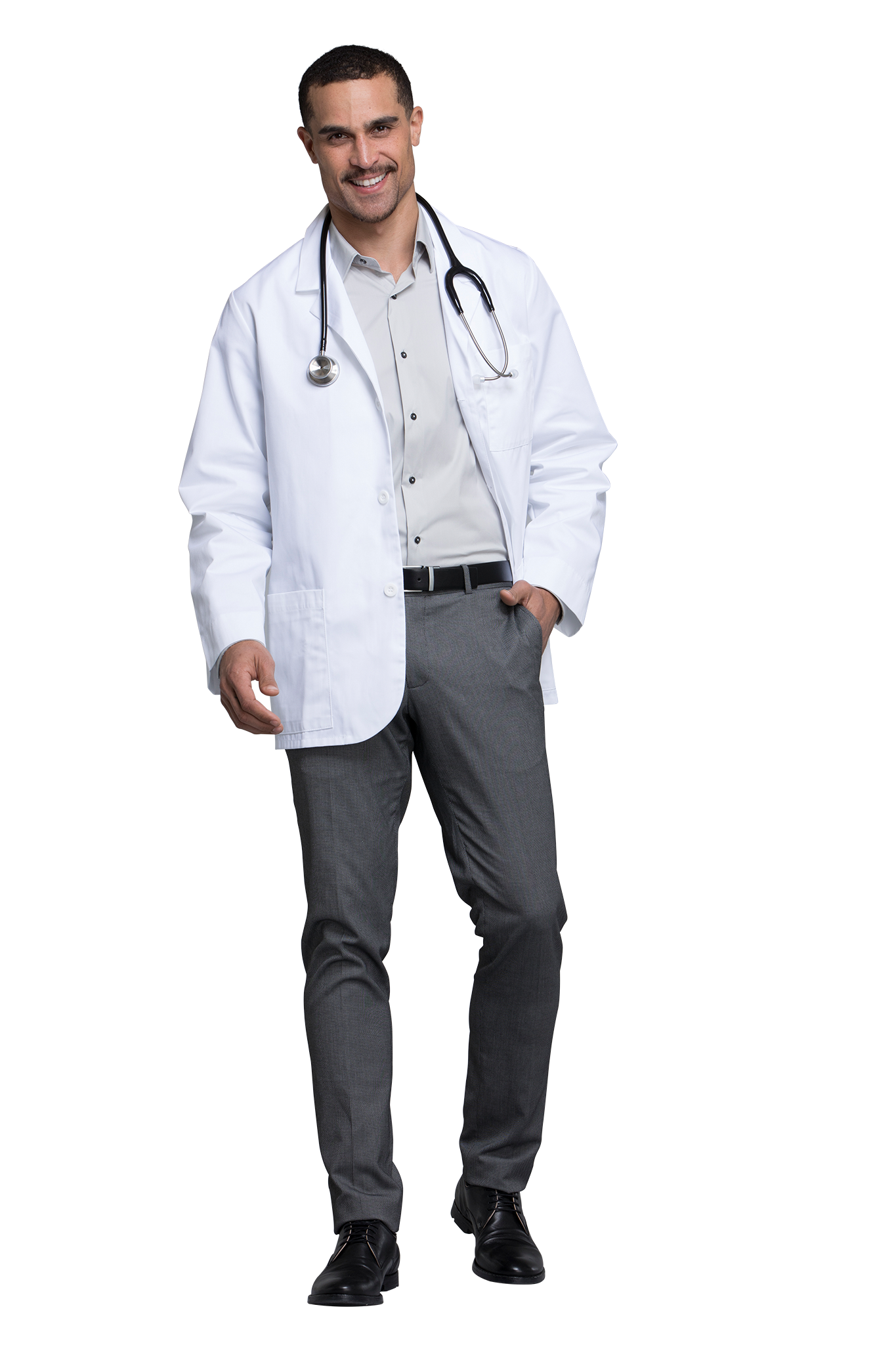 "White - Cherokee Lab Coats 31"" Men's Consultation Lab Coat"