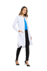 "White - Cherokee Infinity 40"" Women's Antimicrobial Lab Coat"