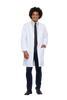 "White - Cherokee Professional Whites 40"" Unisex Lab Coat"