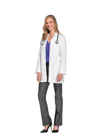 "White - Cherokee Lab Coats 32"" Women's Lab Coat"
