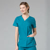V-Neck Two Pocket Top - Avida Healthwear Inc.