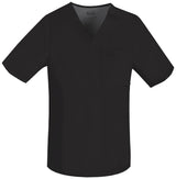 Black - Cherokee Luxe Men's V-Neck Top