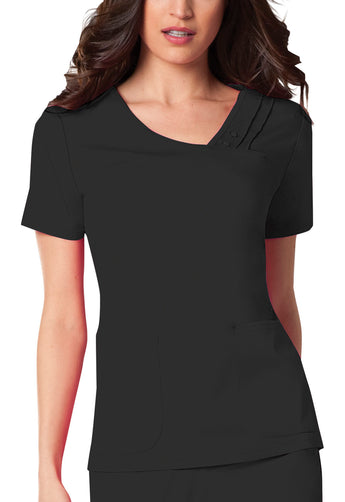 Black - Cherokee Luxe Crossover V-Neck Top