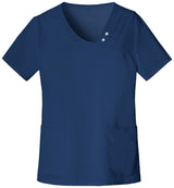 Navy - Cherokee Luxe Crossover V-Neck Top