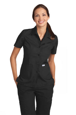 Button Front Ladies Work Top