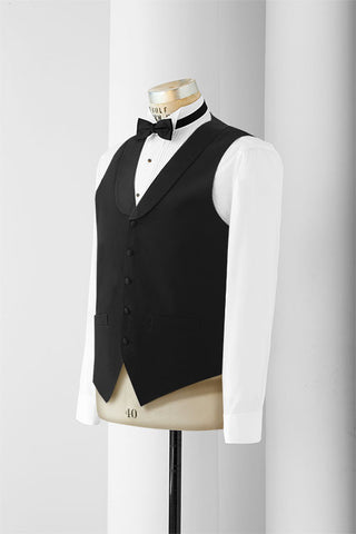 Neil Allyn Men's Satin Lapel Vest