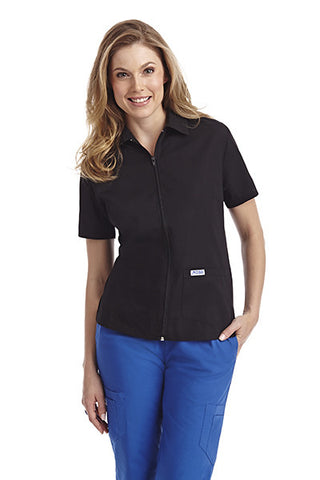 Zipper Front Ladies Work Top - Avida Healthwear Inc.