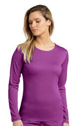 Mystic Violet - White Cross Fit Long Sleeve Mesh T-Shirt