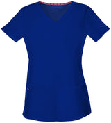 Galaxy Blue - HeartSoul Break On Through Pitter-Pat Shaped V-Neck Top