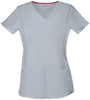 Grey - HeartSoul Break On Through Pitter-Pat Shaped V-Neck Top