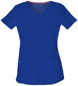 Royal - HeartSoul Break On Through Pitter-Pat Shaped V-Neck Top