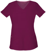 Wine - HeartSoul Break On Through Pitter-Pat Shaped V-Neck Top