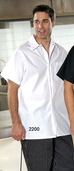 White - Cook Shirt - Button and Chest Pocket