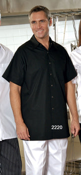 Black - Cook Shirt - Snaps and Chest Pocket