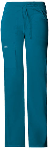 Caribbean Blue - Cherokee Workwear Core Stretch Low Rise Drawstring Cargo Pant
