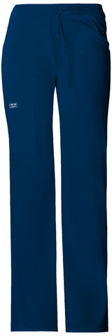 Navy - Cherokee Workwear Core Stretch Low Rise Drawstring Cargo Pant