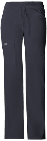 Pewter - Cherokee Workwear Core Stretch Low Rise Drawstring Cargo Pant