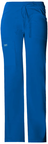 Royal - Cherokee Workwear Core Stretch Low Rise Drawstring Cargo Pant
