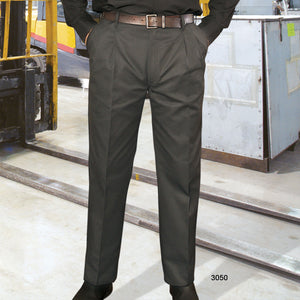 Charcoal - Premium Uniforms Pleated Work Pants