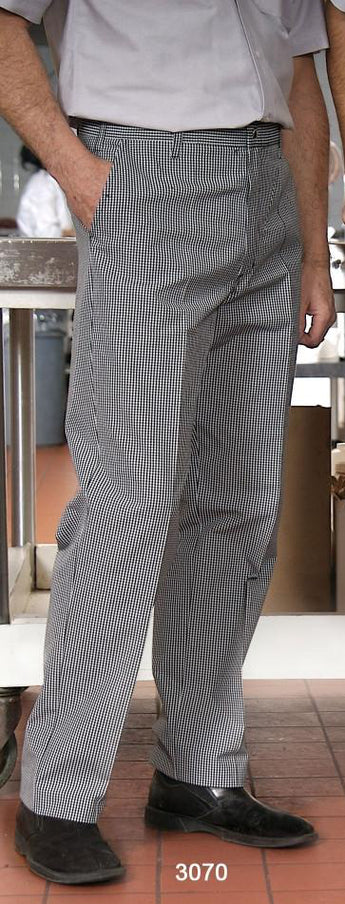Woven Check - Econo Chef Pants - Dome Closure