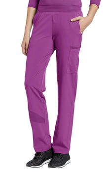 Mystic Violet - White Cross Fit Pull On Cargo Pant