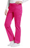 Fuchsia - White Cross Allure Yoga Pant