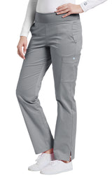 Grey - White Cross Allure Yoga Pant