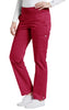 Heritage Red - White Cross Allure Yoga Pant