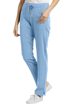 Bliss Blue - White Cross Marvella Drawstring Pant
