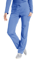 Ceil Blue - White Cross Fit Cargo Pocket Pant