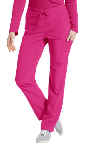 Fuchsia - White Cross Fit Cargo Pocket Pant