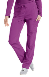 Mystic Violet - White Cross Fit Cargo Pocket Pant