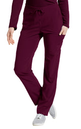 Wine - White Cross Fit Cargo Pocket Pant