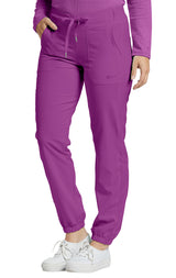 Mystic Violet - White Cross Fit Jogger Pant