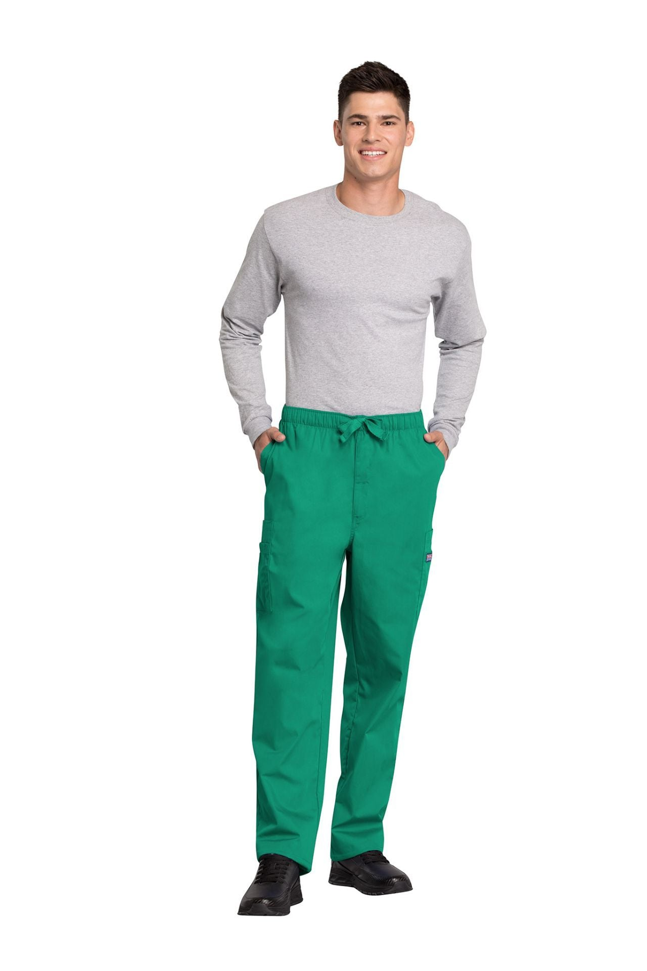 Surgical Green - Cherokee Workwear Originals Men's Fly Front Cargo Pant
