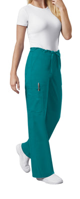 Teal Blue - Cherokee Workwear Core Stretch Unisex Drawstring Cargo Pant