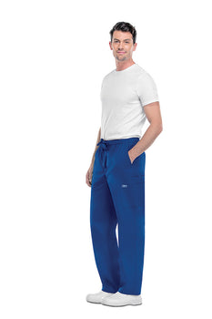 Royal - Cherokee Workwear Core Stretch Men's Drawstring Cargo Pant