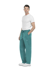 Teal Blue - Cherokee Workwear Core Stretch Men's Drawstring Cargo Pant