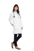 "White - Cherokee Workwear Core Stretch 38"" Unisex Lab Coat"