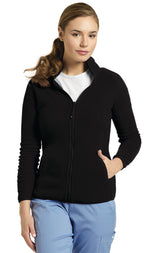 Black - White Cross Fleece Jacket