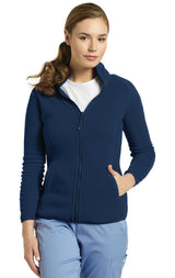 Navy - White Cross Fleece Jacket